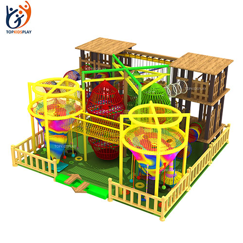 China professional supplier newly-developed custom indoor crochet playground colorful climbing net for kids