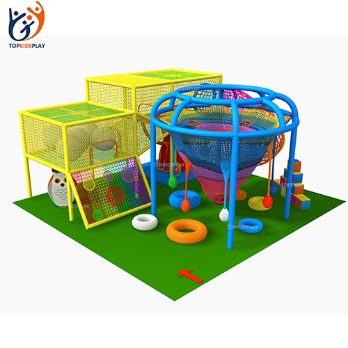 Manufacturers Customized size new style colorful children crotchet ropes indoor rainbow climbing net